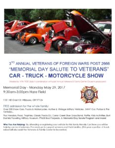 Hillsboro Car Show Memorial Day