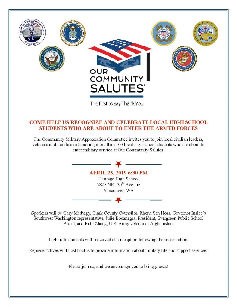 100 Americanism our community salutes – community military appreciation